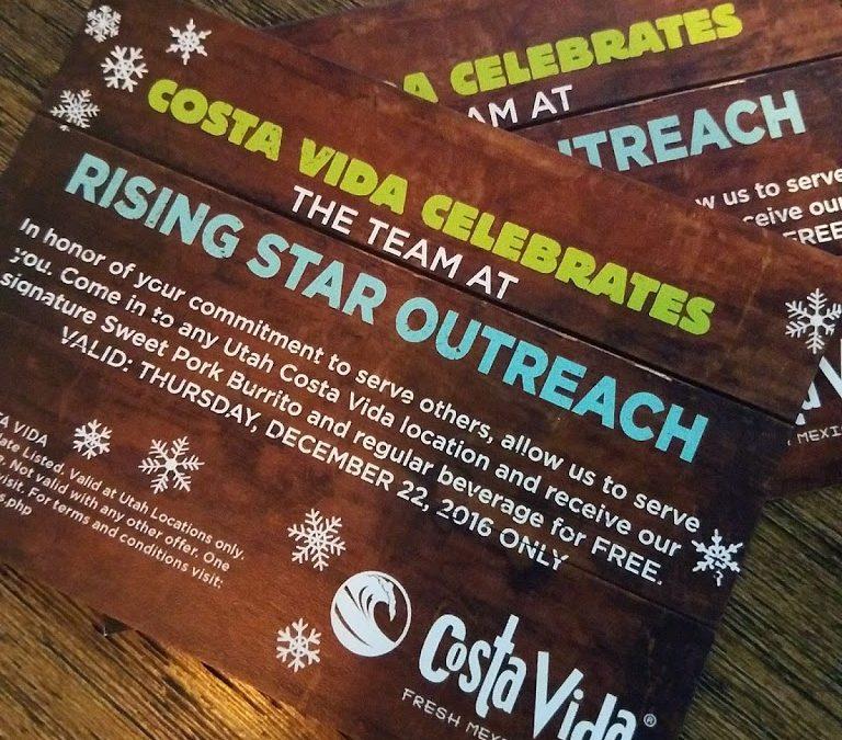 Costa Vida Celebrates Rising Star Outreach