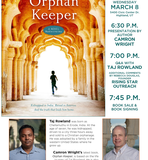 Upcoming Event: The Orphan Keeper
